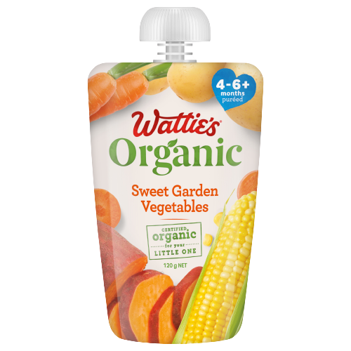 Wattie's Organic Sweet Garden Vegetables