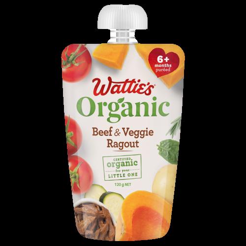 Wattie's Organic Beef & Veggie Ragout