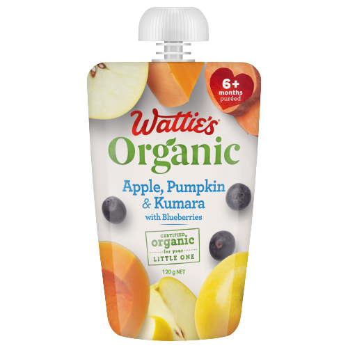 Wattie's Organic Apple, Pumpkin & Kumara with Blueberries