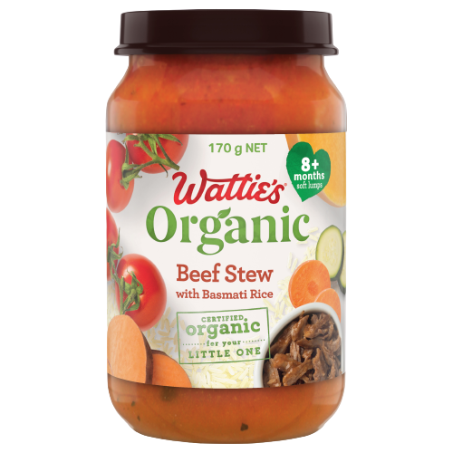 Wattie's Organic Beef Stew with Basmati Rice