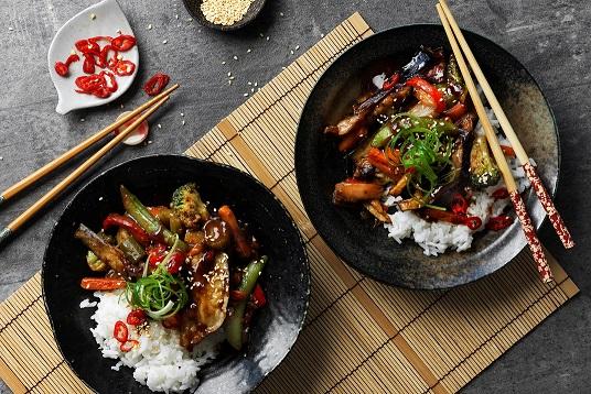 Crispy Eggplant & Vegetable Stir-fry