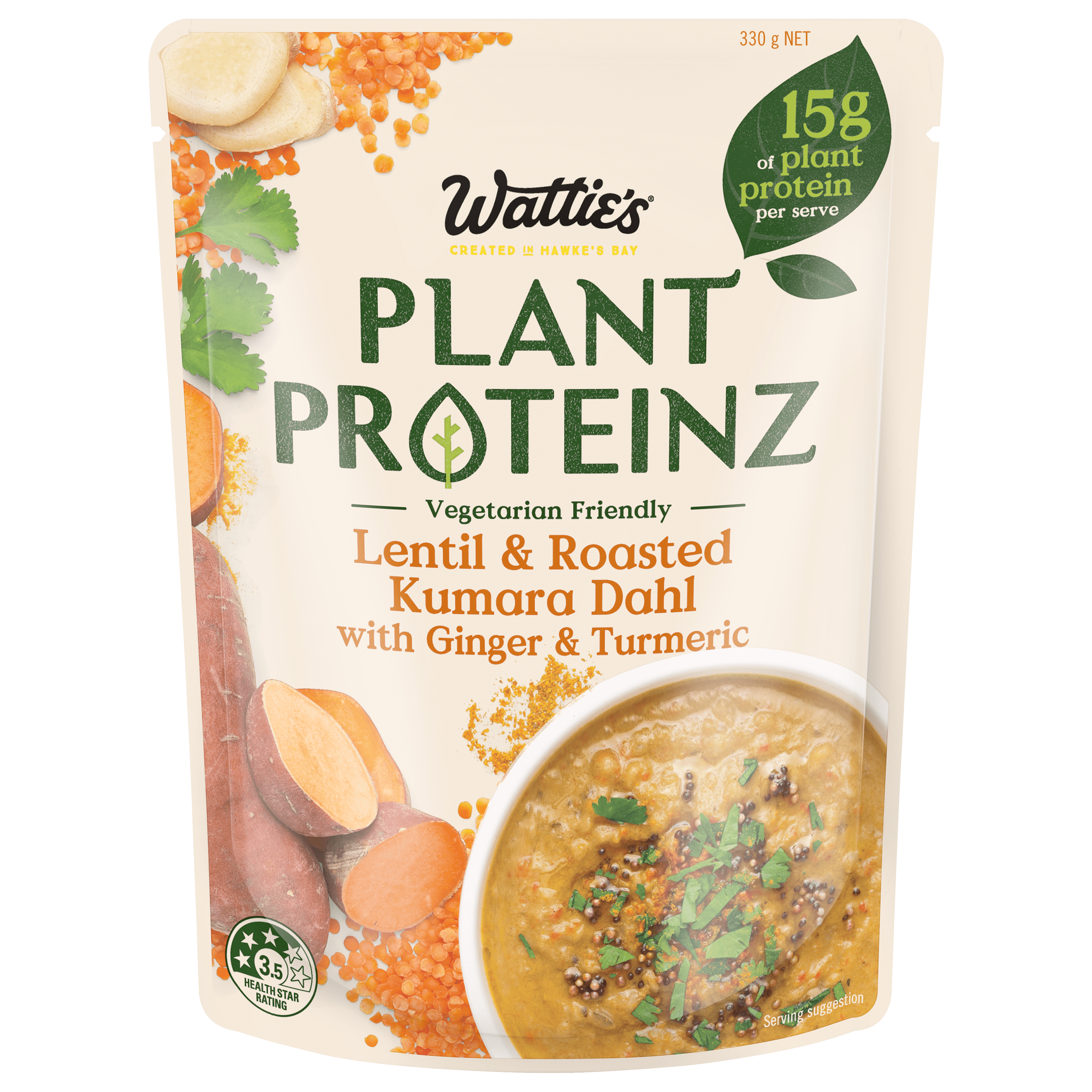 Lentil and Roasted Kumara Dahl with Ginger and Turmeric