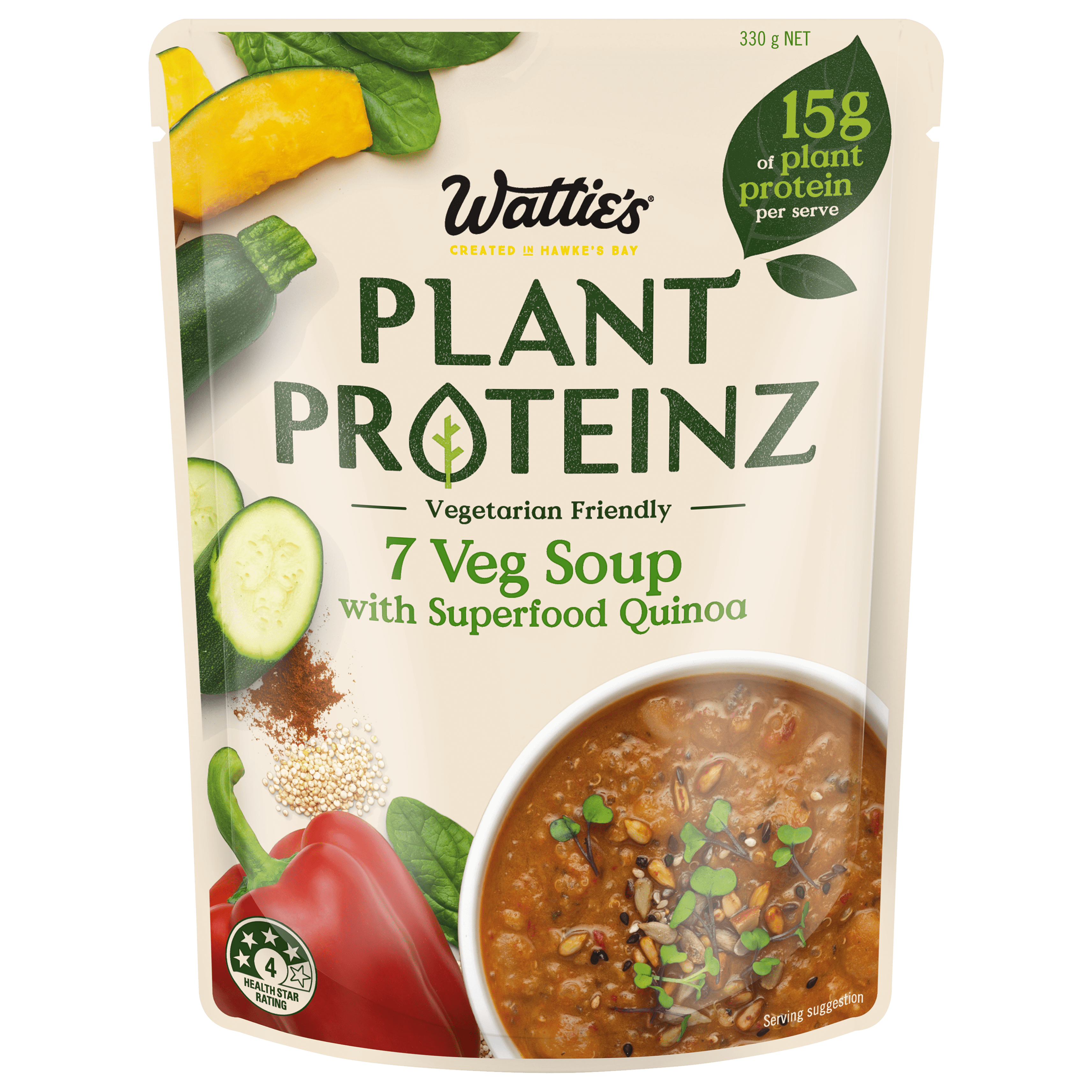 7 Veg Soup with Superfood Quinoa