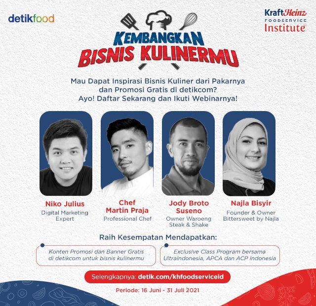 Yuk, Ikutan Webinar 'Kembangkan Bisnis Kulinermu'! Form page link