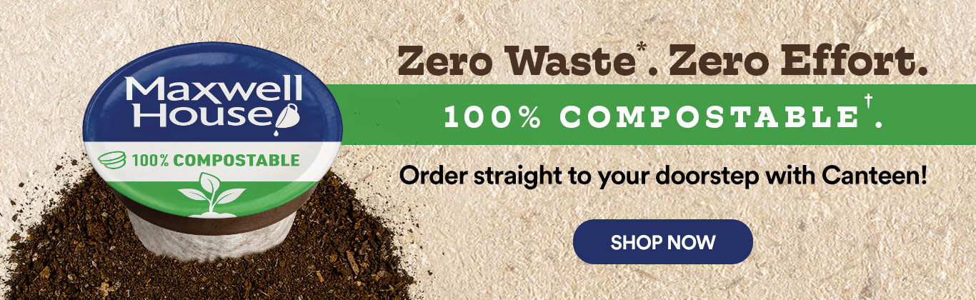 Maxwell House 100% compostable coffee pods