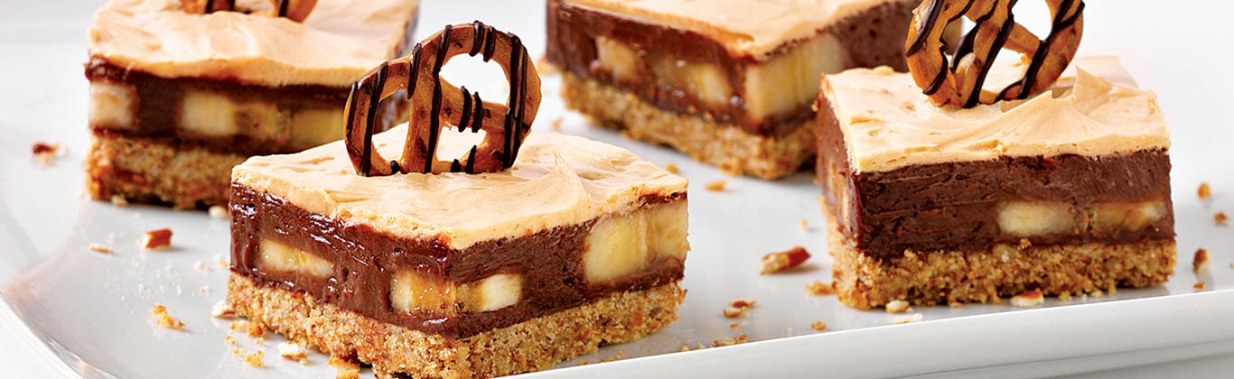 Chocolate, Peanut Butter & Pretzel Bars