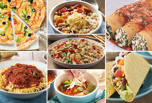 One Week of Vegetarian Dinners from your Pantry